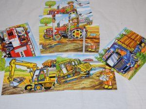 Dřevěné kostky,skládačky,puzzle